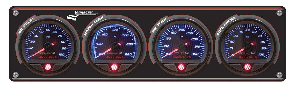 4 Gauge Aluminum Panel SMi™ Gauges - FP-100 psi