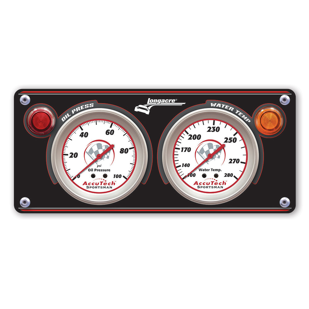 2 Gauge Aluminum Panel w. Sportsman™ Gauges - OP,WT