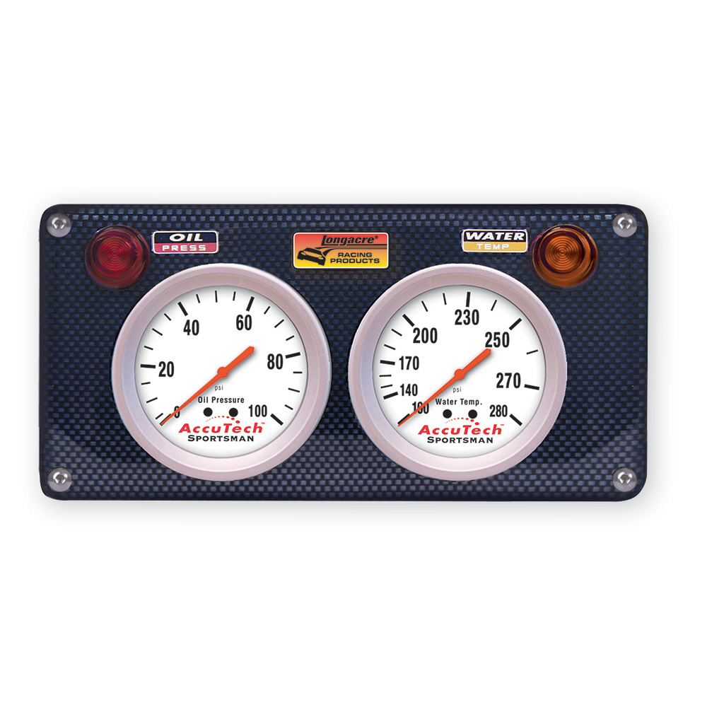 2 Gauge Molded CF Panel w. Sportsman™ Gauges - OP,WT