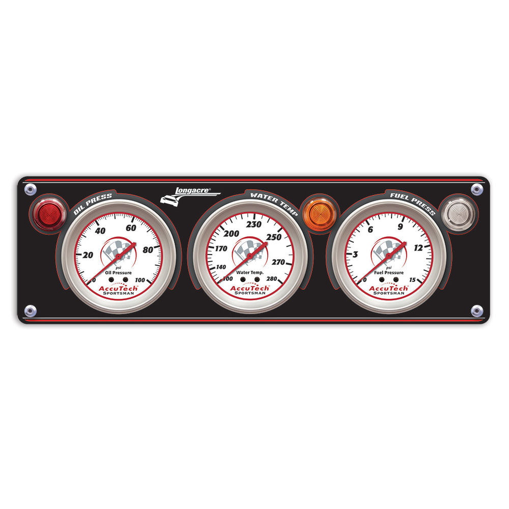 3 Gauge Aluminum Panel w. Sportsman™ Gauges - OP,WT,FP