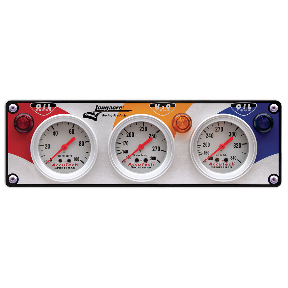 3 Gauge Aluminum Panel w. Sportsman™ Gauges - OP,WT,OT