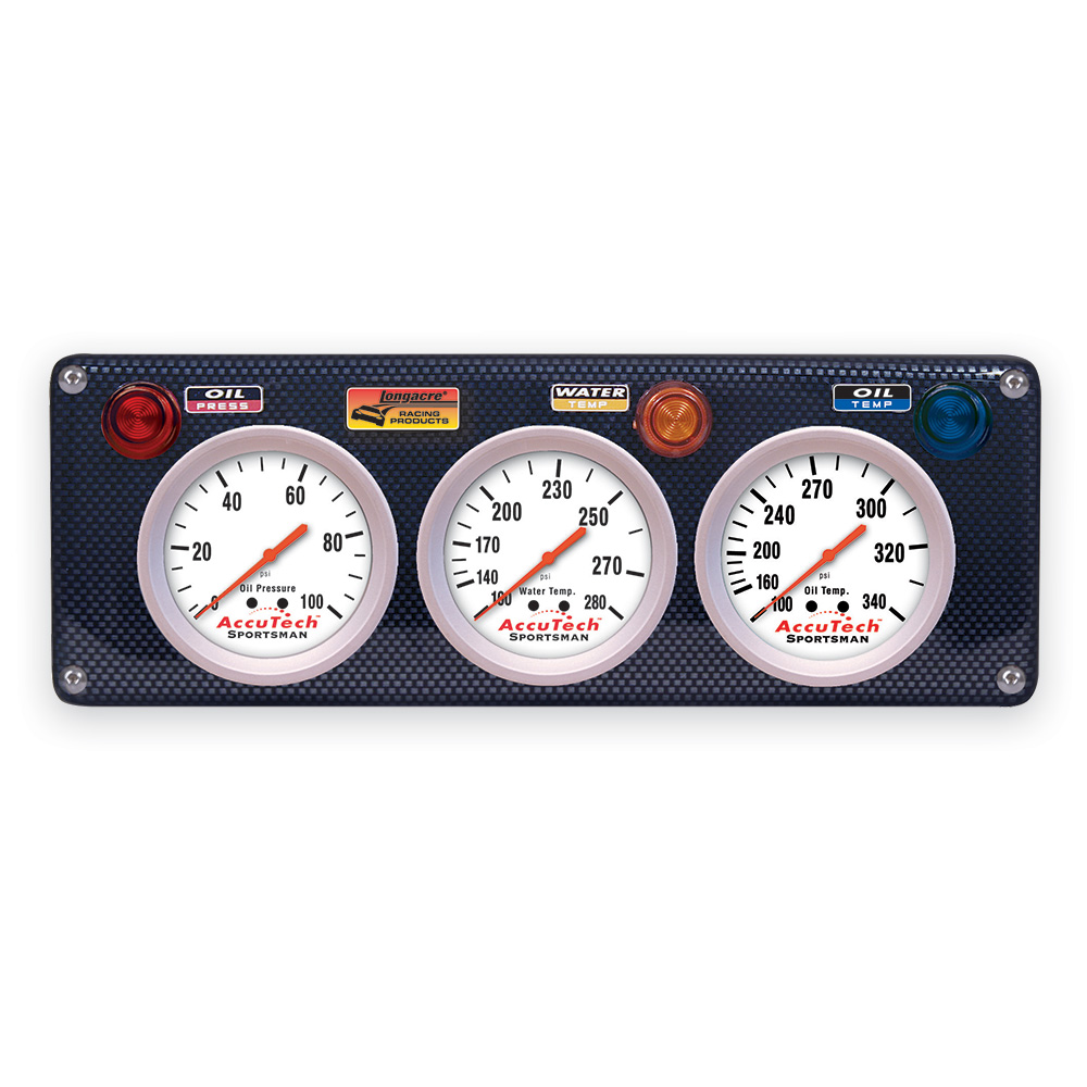 3 Gauge Molded CF Panel w. Sportsman™ Gauges - OP,WT,OT