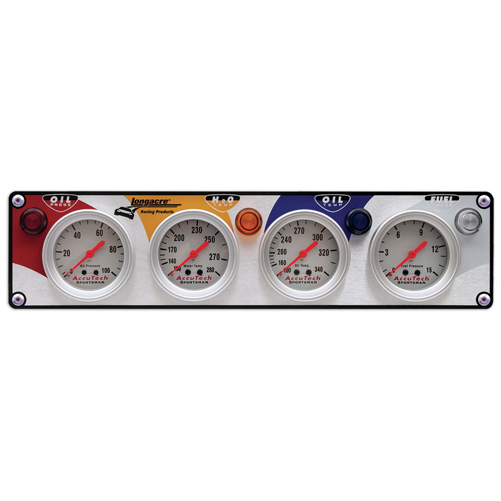 4 Gauge Aluminum Panel w. Sportsman™ Gauges - OP,WT,OT,FP