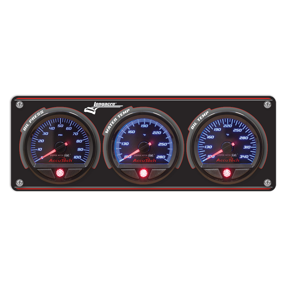 3 Gauge Aluminum Panel with AccuTech™ SMi™ Gauges - OP,WT,OT