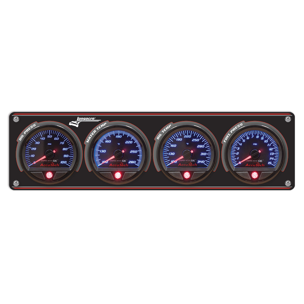4 Gauge Aluminum Panel with AccuTech™ SMi™ Gauges - OP,WT,OT,FP
