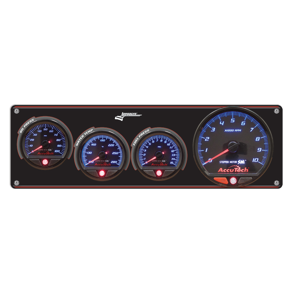3 Gauge Aluminum Panel with AccuTech™ SMi™ Gauges & Tach - OP,WT,FP (15 psi)
