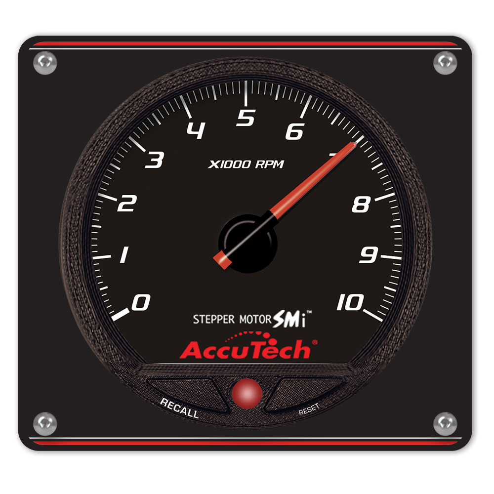 AccuTech™ SMi™ 'Stepper Motor' Memory Tach - Black in Aluminum Panel