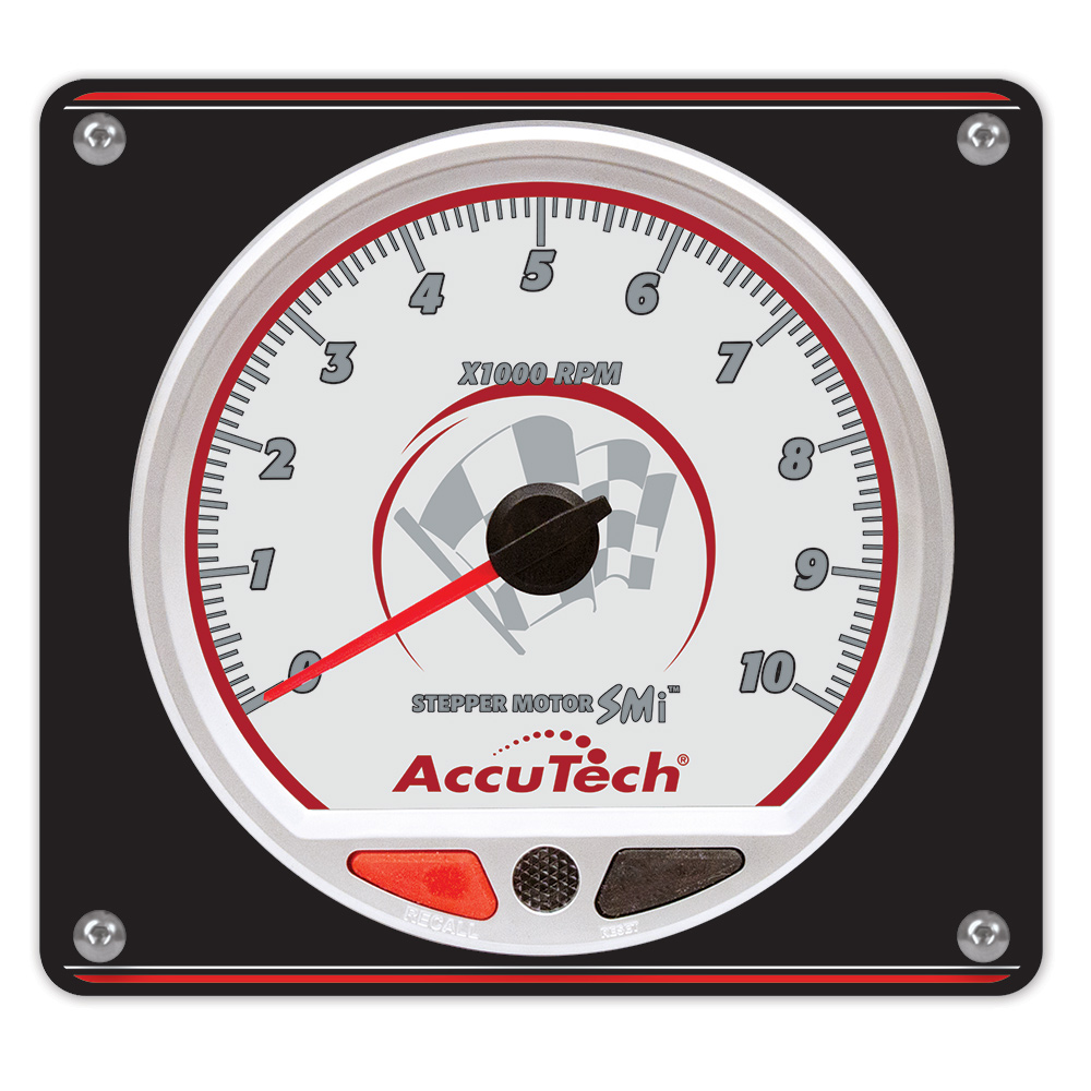 AccuTech™ SMi™ 'Stepper Motor' Memory Tach - Silver in Aluminum Panel