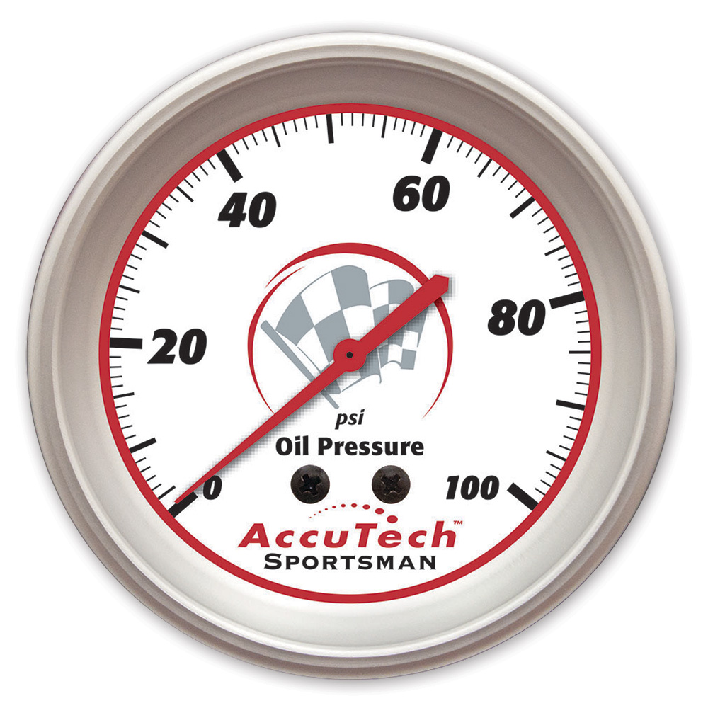 AccuTech™ Sportsman™ Aluminum Oil Pressure Gauge