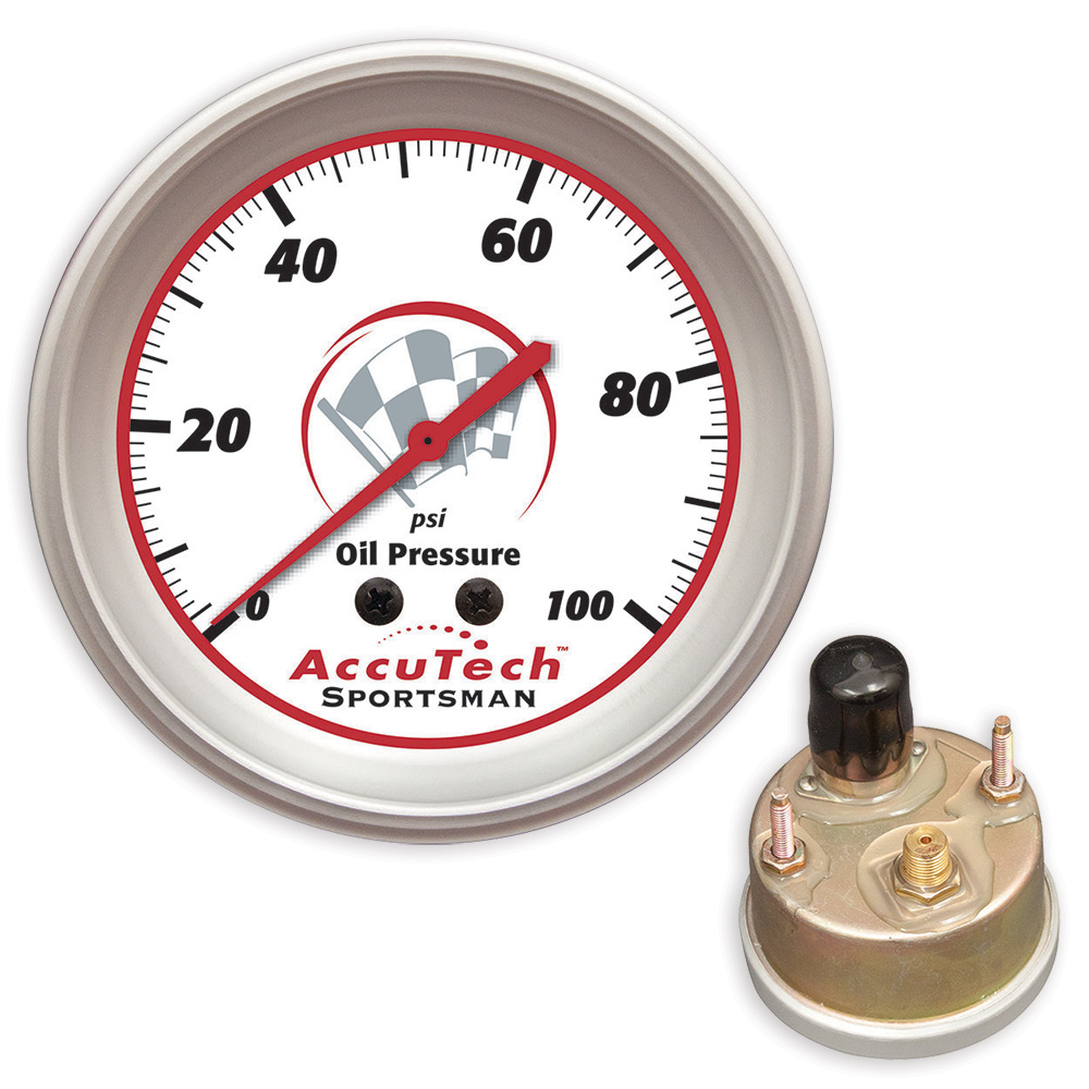 AccuTech™ Sportsman™ 2015 Weather Resistant Oil Pressure Gauge