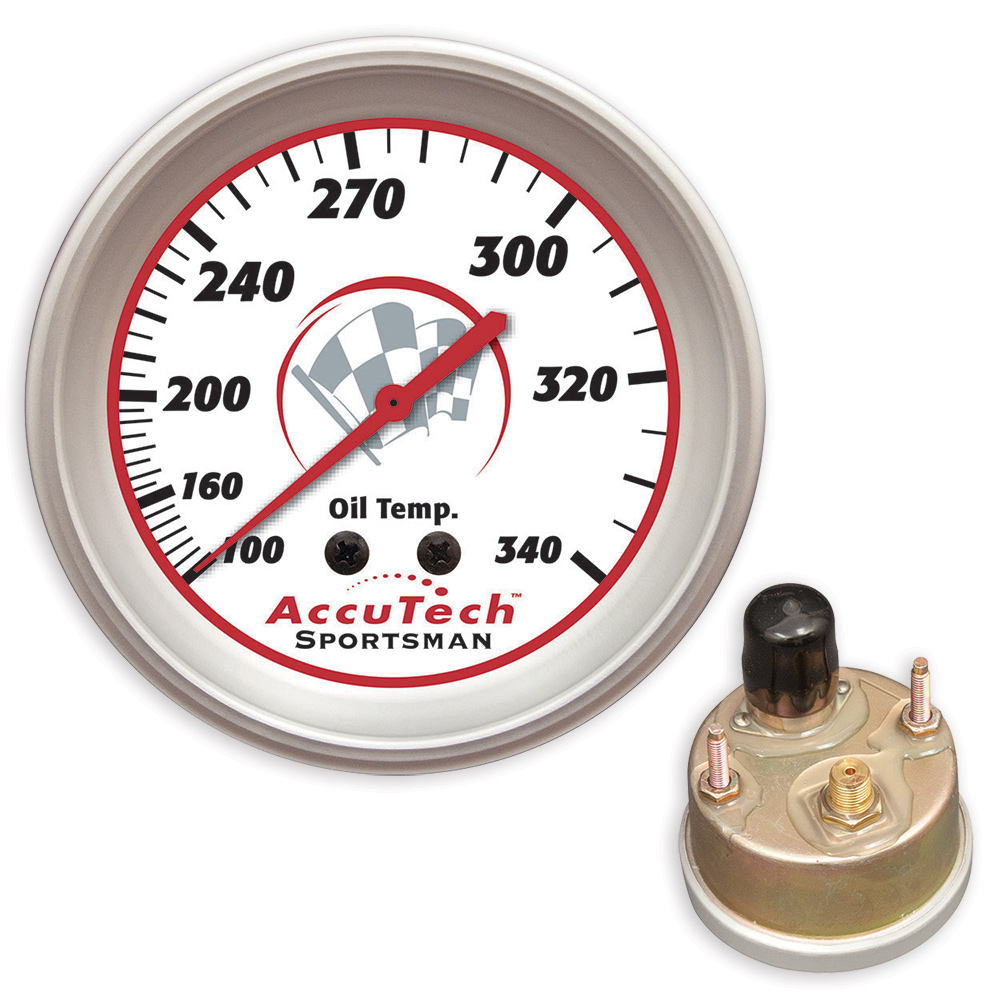 AccuTech™ Sportsman™ 2015 Weather Resistant Oil Temp Gauge