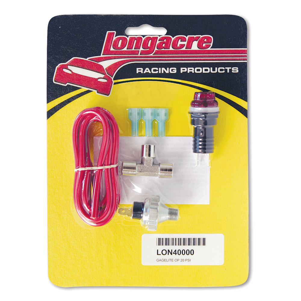 "Gagelites Warning Light Kit - 20 psi Oil Pressure 1/8"" NPT"