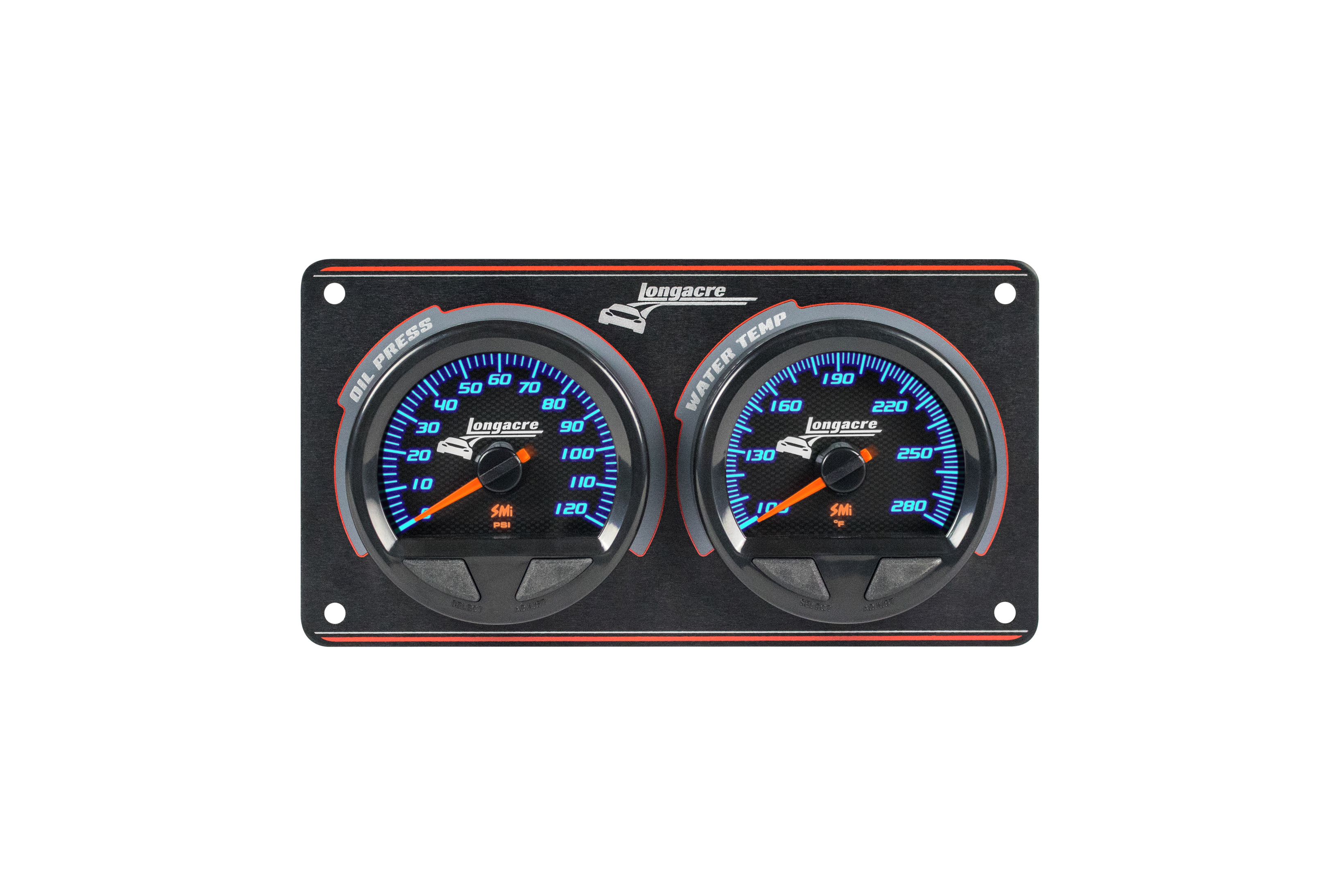 SMi™ Elite Waterproof Gauge Panel, 2 Gauge Oil Pressure/Water Temperature