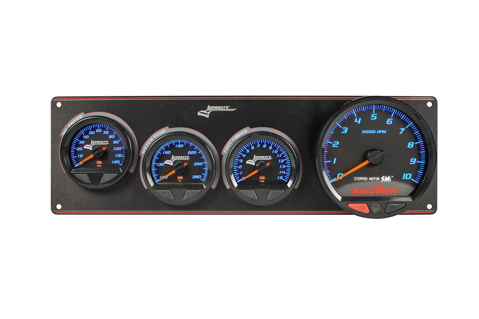SMi™ Elite Waterproof Gauge Panel, 3 Gauge Oil Pressure/Water Temperature/Fuel Pressure/Tach