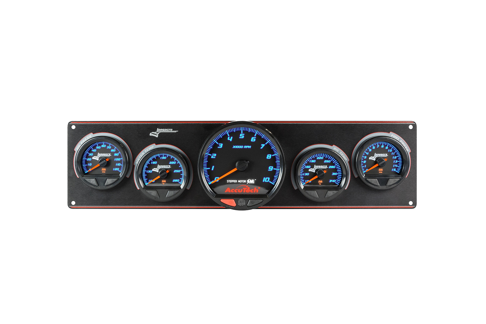 SMi™ Elite Waterproof Gauge Panel, 4 Gauge Oil Pressure/Water Temperature/Oil Temperature/Fuel Pressure
