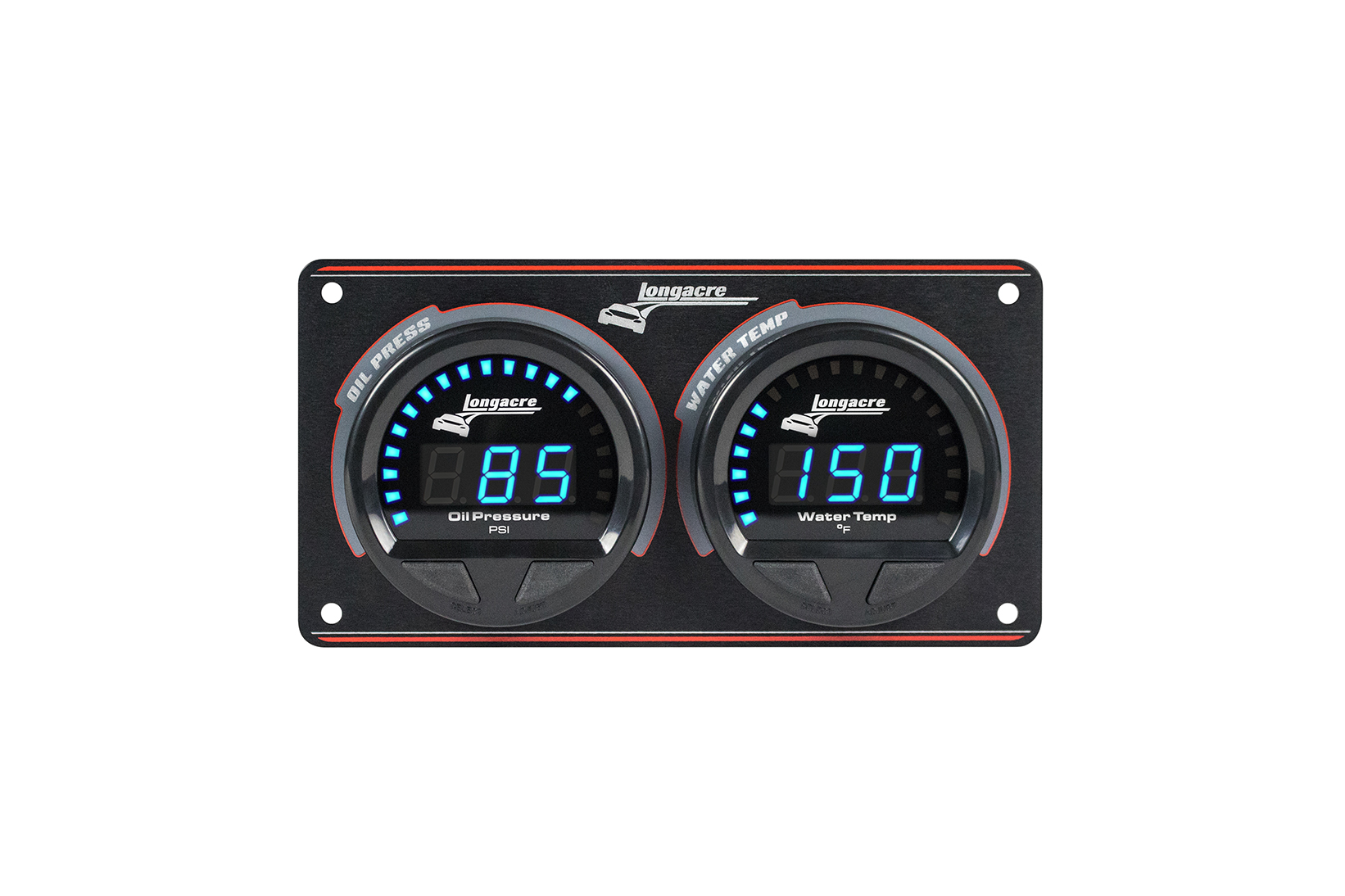 Digital Elite Waterproof Gauge Panel, 2 Gauge Oil Pressure/Water Temperature