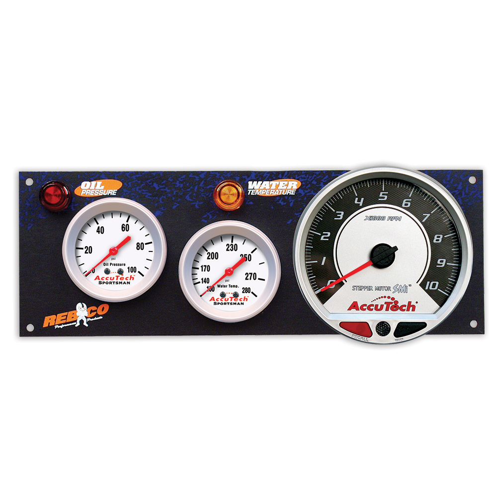 2 Gauge AccuTech™ Sportsman™ Panel w SMi™ Tachometer - OP,WT