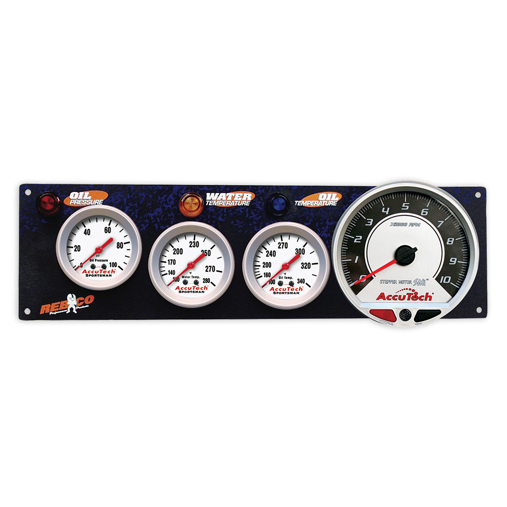 3 Gauge AccuTech™ Sportsman™ Panel w SMi™ Tachometer - OP,WT,OT