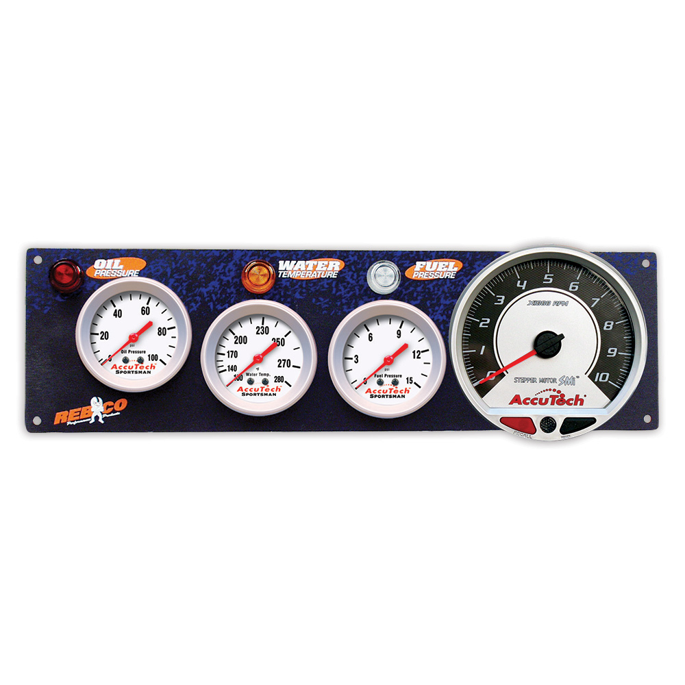 3 Gauge AccuTech™ Sportsman™ Panel w SMi™ Tachometer - OP,WT,FP