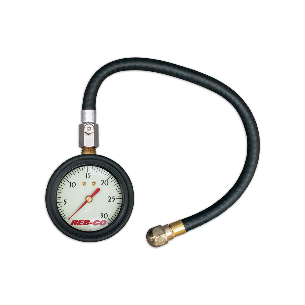 "2-1/2"" Deluxe Air Pressure Gauge - 0-30 psi"