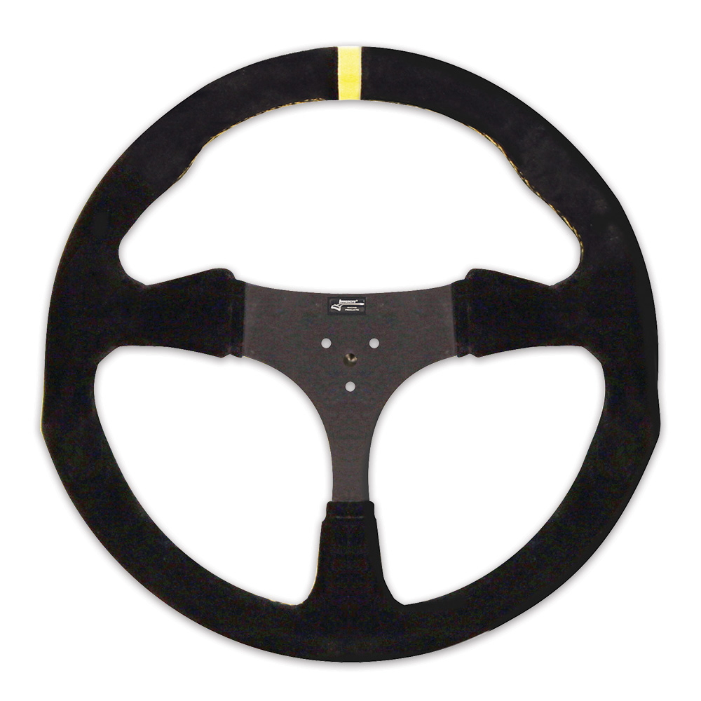 "13"" Suede Flat Kart Steering Wheel"