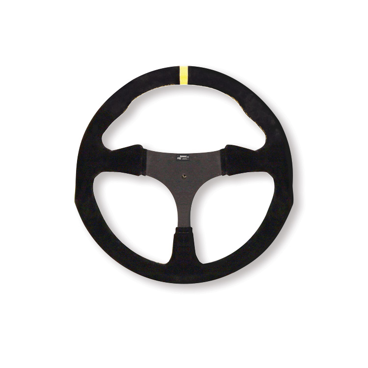 Suede Flat Steering Wheel - 320 mm - No Holes