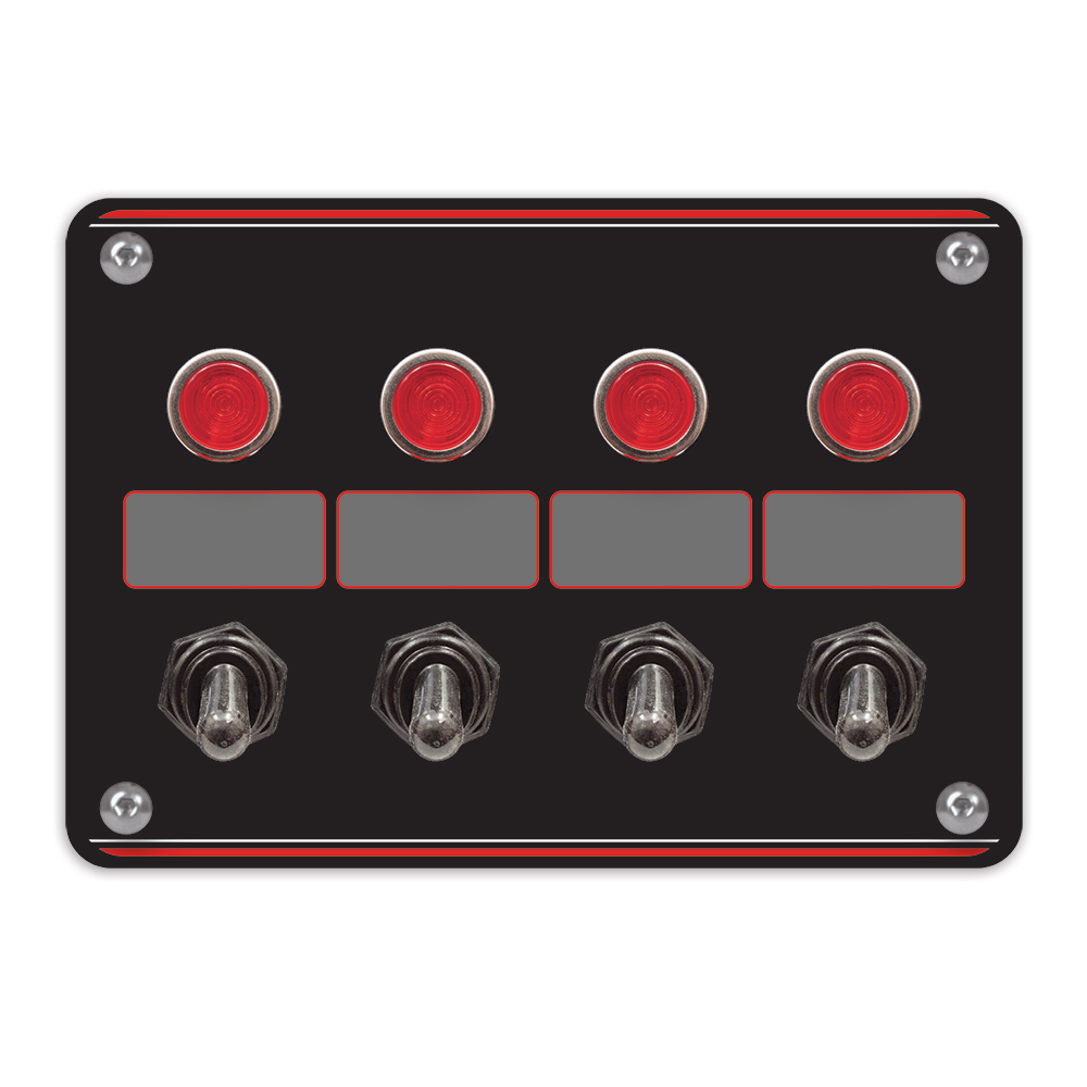 4 Accessory switch panel with 4 pilot lights