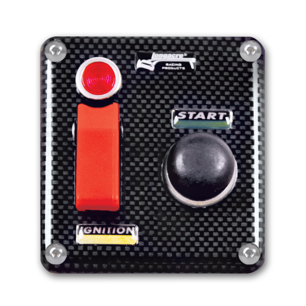 Molded CF Flip-up Start / Ignition Panel with Pilot Light