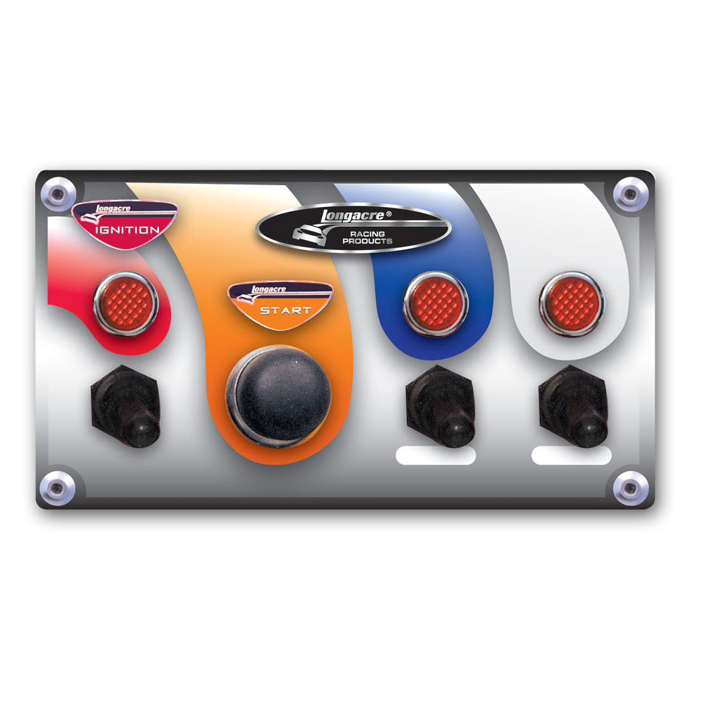 Start / Ignition Panel w WP covers,  2 acc & pilot lights