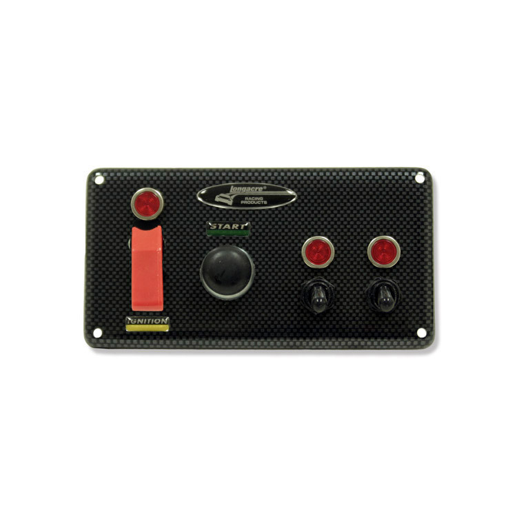 Molded CF Flip-up Start / Ignition Panel with 2 Acc. & Pilot Lights