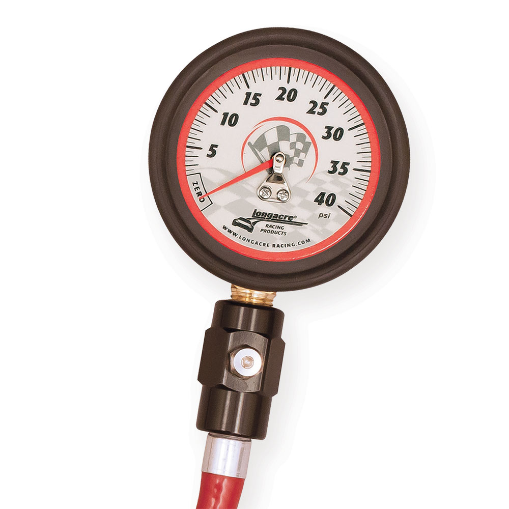 "Deluxe 2 ½"" GID Tire Gauge 0-40 by ½ lb"
