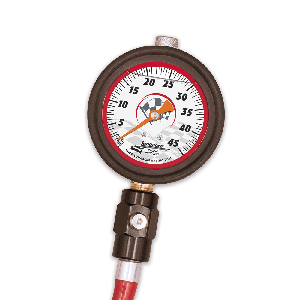 "Liquid Filled 2 ½"" GID Tire Gauge 0-45 by ½ lb"