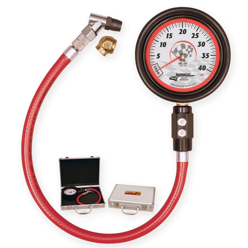 "Magnum™ 3 ½"" GID Tire Gauge 0-40 by  ½ lb"