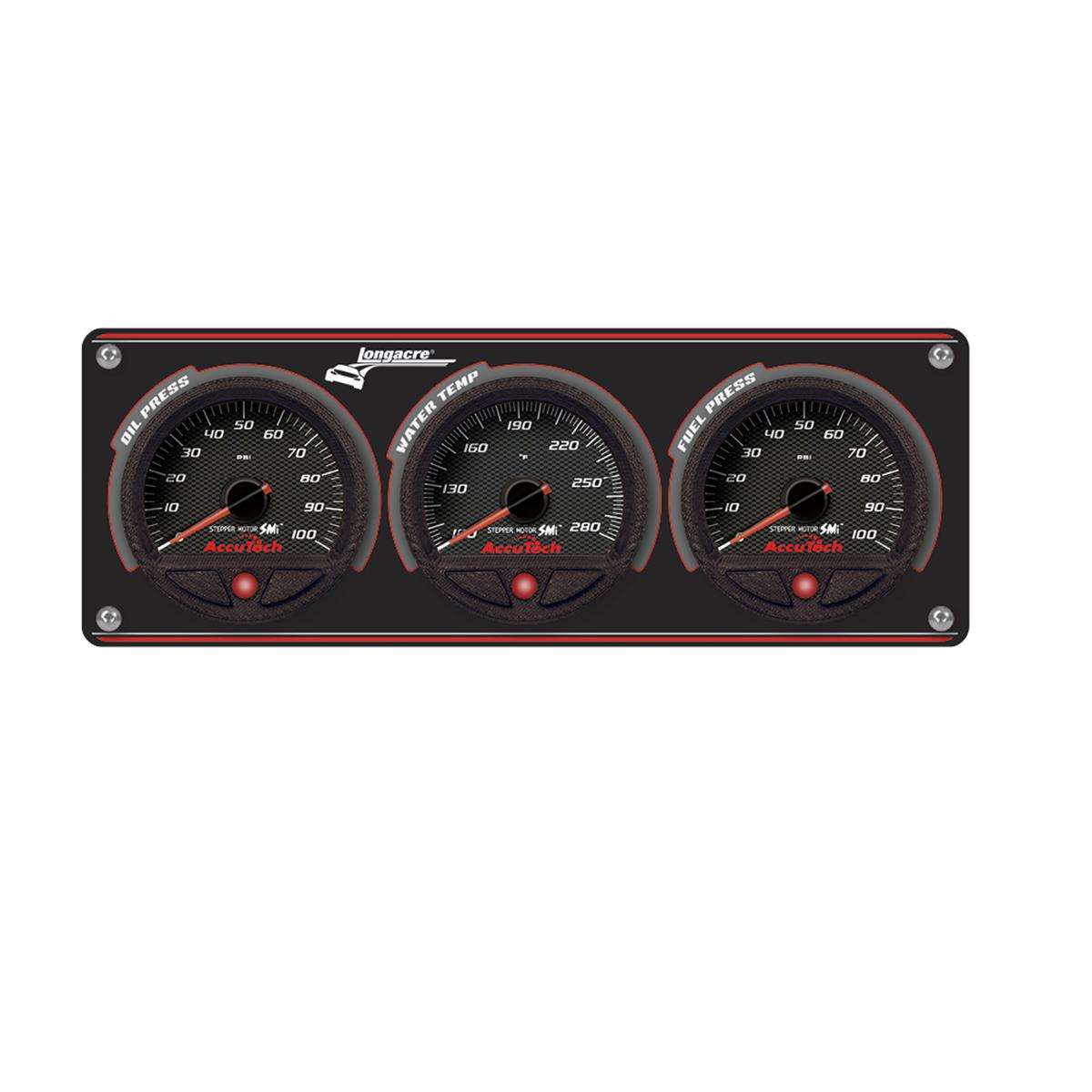 3 Gauge Aluminum Panel with AccuTech™ SMi™ Gauges - OP,WT,FP (100psi)