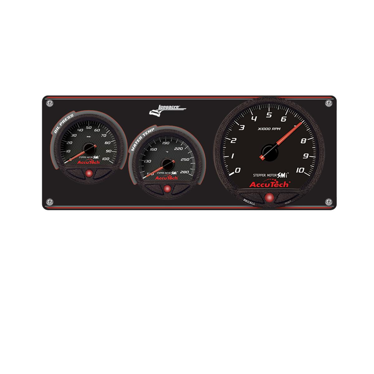 2 Gauge Aluminum Panel with AccuTech™ SMi™ Gauges & Tach - OP,WT