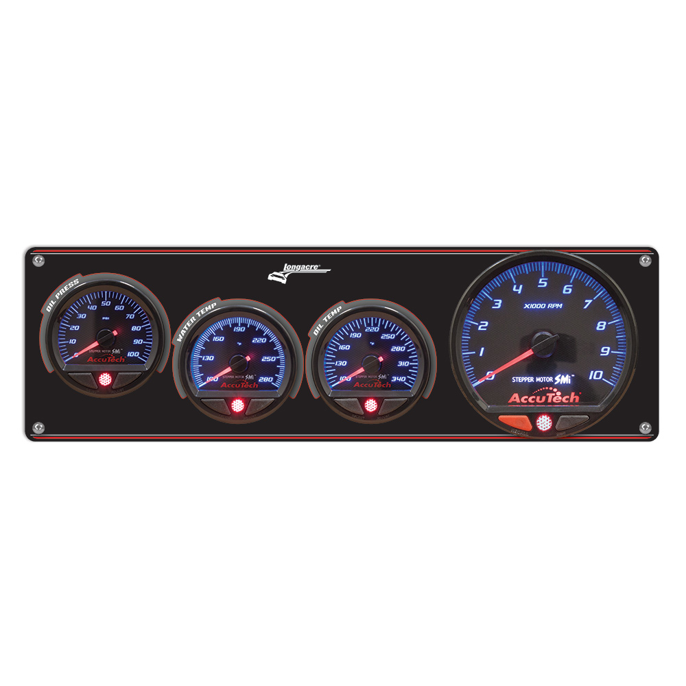 3 Gauge Aluminum Panel with AccuTech™ SMi™ Gauges & Tach - OP,WT,OT