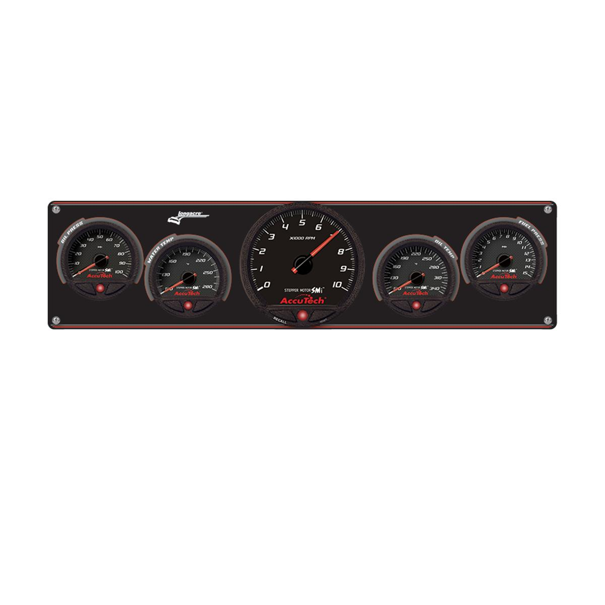 4 Gauge Aluminum Panel with AccuTech™ SMi™ Gauges & Tach - OP,WT,OT,FP