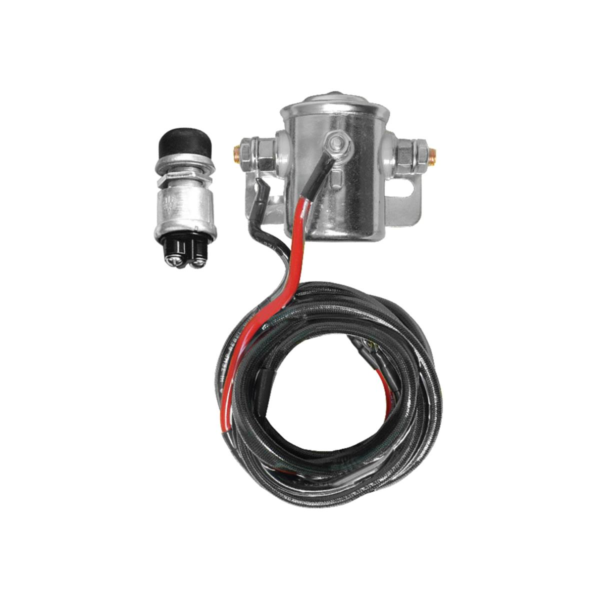 HD Starter Solenoid Kit with Weatherproof Firewall Starter Button