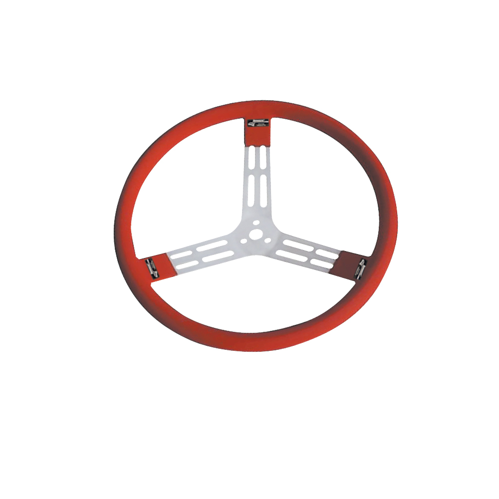 "15"" Aluminum - Red w/ natural spokes and smooth grip"
