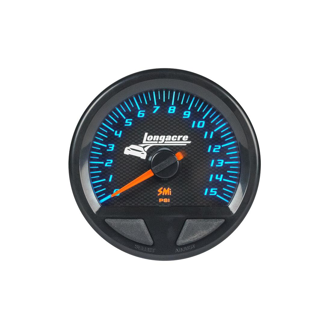 SMi™ Elite Waterproof Gauges, Fuel Pressure 0-15 psi, Sensor Included
