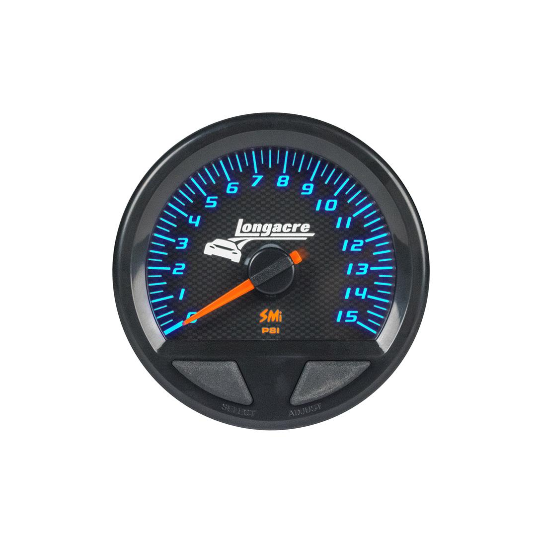 SMi™ Elite Waterproof Gauges, Fuel Pressure 0-15 psi, Sensor Not Included