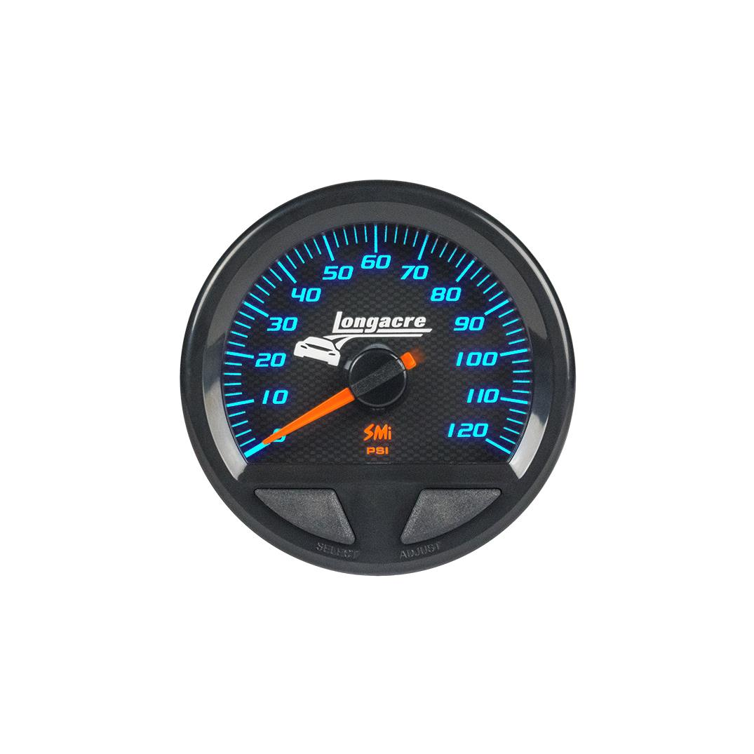 SMi™ Elite Waterproof Gauges, Fuel Pressure 0-120 psi, Sensor Not Included