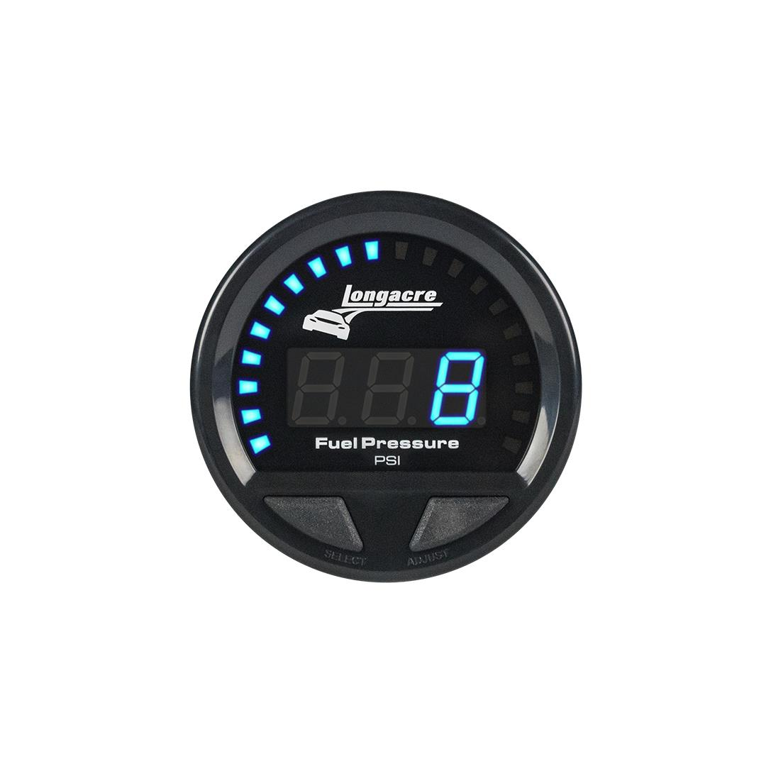 Digital Elite Waterproof Gauges, Fuel Pressure 0-15 psi, Sensor Included