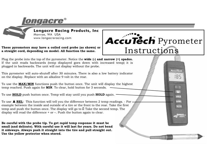 Accutech Pyrometer Instructions