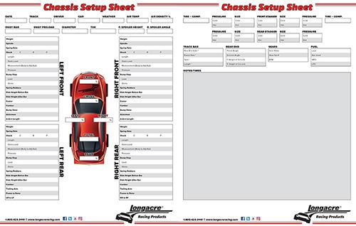 Longacre Chassis Setup Sheet