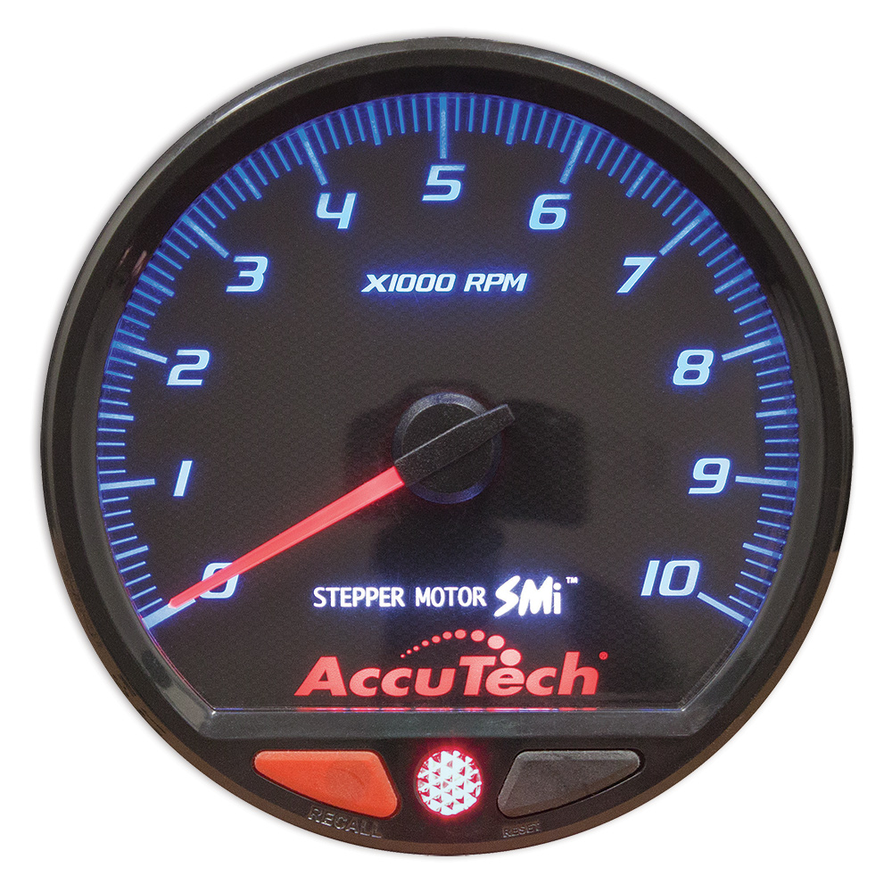 Instructions Auto Gauge Rpm Wiring Diagram Accutech Smi Stepper Motor Memory Tach Black