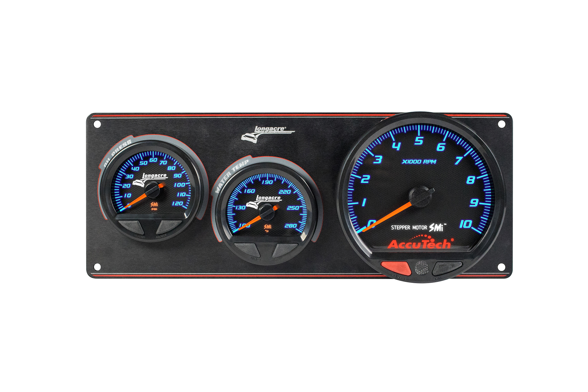 SMi™ Elite Waterproof Gauge Panel, 2 Gauge Oil Pressure/Water Temperature/Tach
