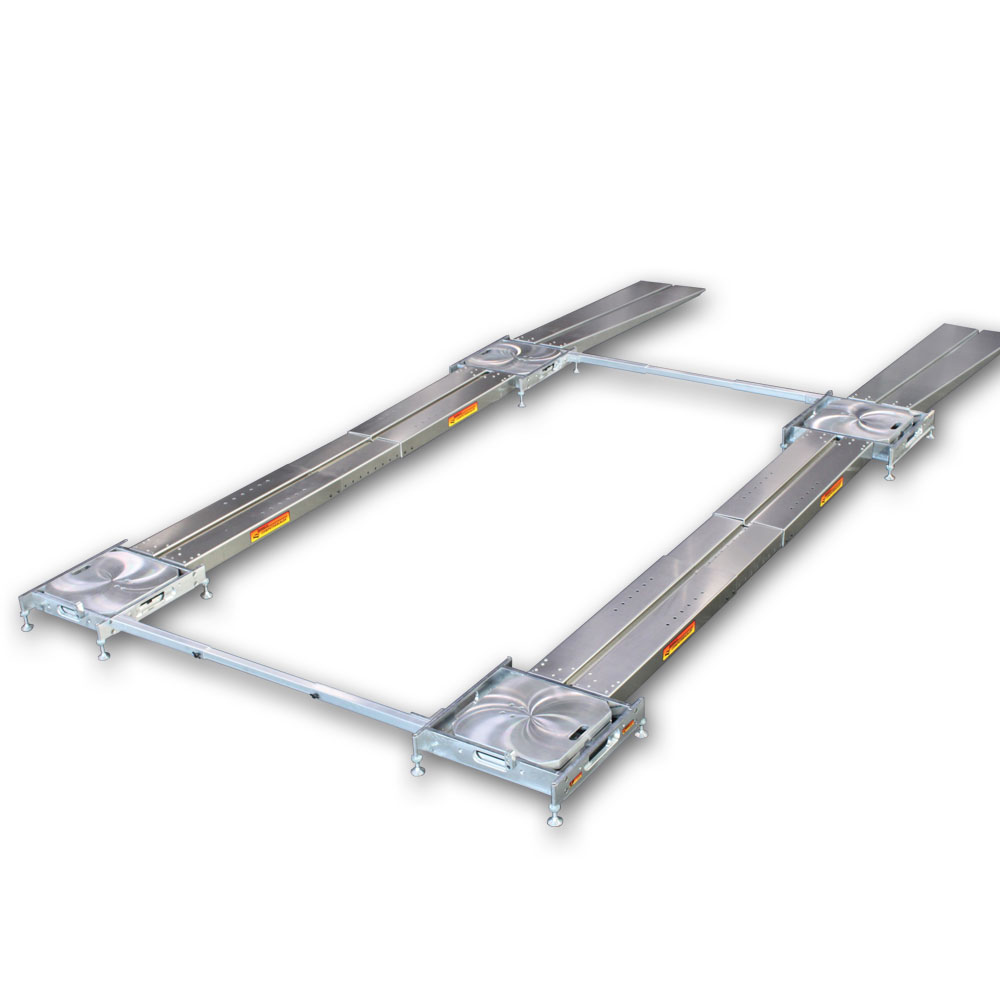 Adjustable Scale Platen Setup Fixture with 1 SideSlider