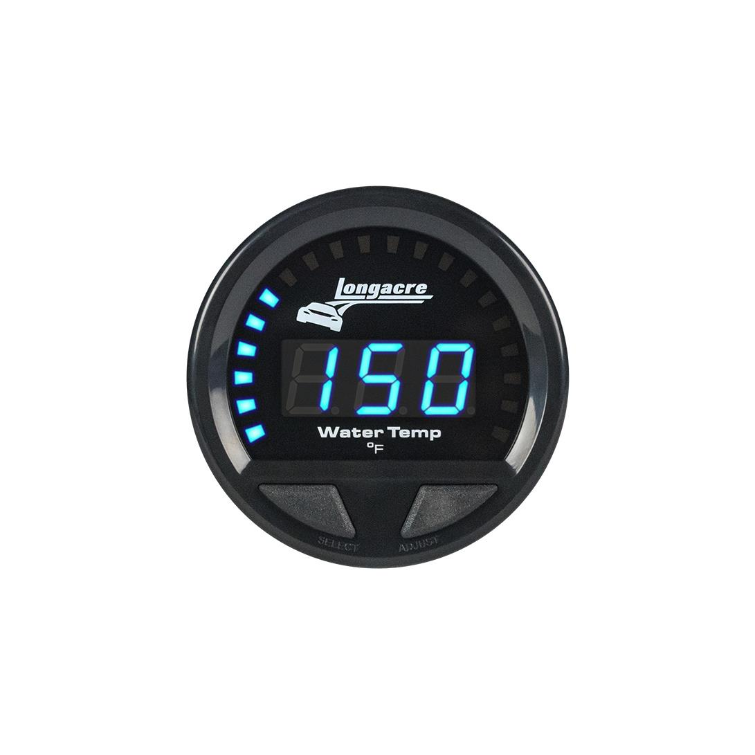 Digital Elite Waterproof Gauges, Water Temperature 100-280, Sensor Not Included